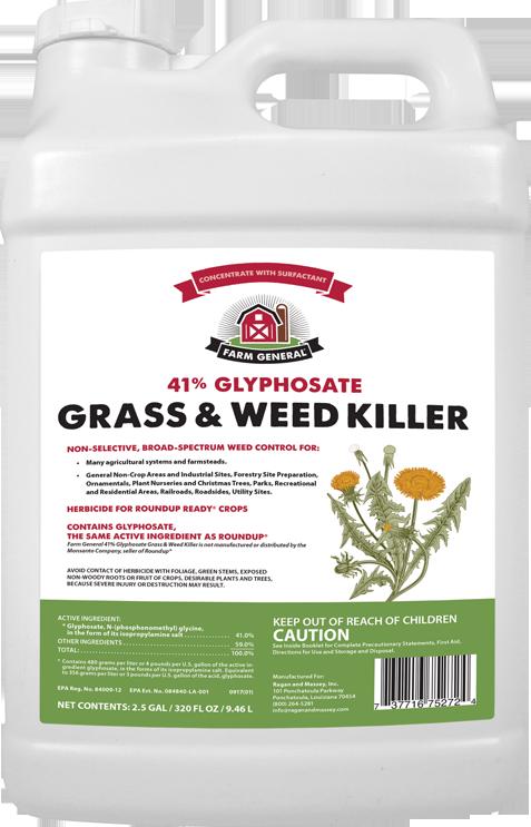 FARM GENERAL 41% GLYPHOSATE GRASS & WEED KILLER