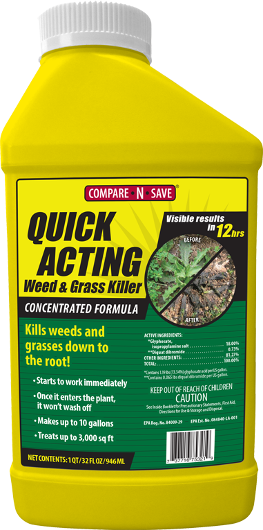 COMPARE-N-SAVE QUICK ACTING WEED & GRASS KILLER